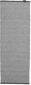 Diamond - Secondary Rug 80X200 Authentic Modern Handwoven Hallway Runner Dark Grey/Black/Light Grey (Cotton, India)