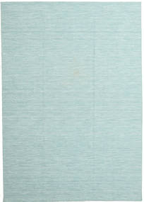 Kilim Loom - Secondary Rug 220X320 Authentic  Modern Handwoven Light Blue/Pastel Green (Wool, India)