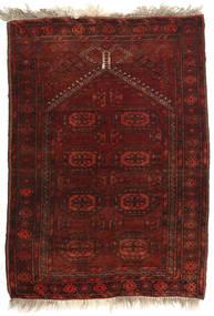 Afghan Khal Mohammadi Matto 77X108 Itämainen Käsinsolmittu Tummanpunainen (Villa, Afganistan)