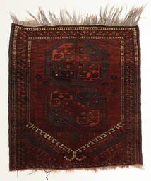 Afghan Khal Mohammadi Matto 93X105 Itämainen Käsinsolmittu Tummanruskea/Beige/Tummanpunainen (Villa, Afganistan)