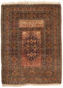 アフガン Khal Mohammadi 絨毯 86X115 オリエンタル 手織り 濃い茶色/茶/薄茶色 (ウール, アフガニスタン)