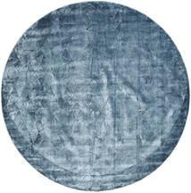 Crystal - Steel Blue Rug Ø 250 Modern Round Dark Blue/Light Blue/Blue Large ( India)