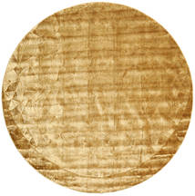 Crystal - Gold Rug Ø 250 Modern Round Light Brown/Brown/Orange Large ( India)
