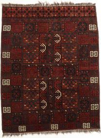 アフガン Khal Mohammadi 絨毯 114X143 オリエンタル 手織り 深紅色の (ウール, アフガニスタン)