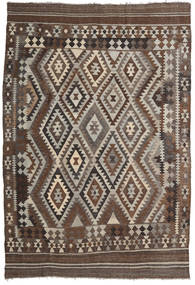 Kilim Afghan Old Style Rug 200X292 Authentic  Oriental Handwoven Dark Brown/Light Brown (Wool, Afghanistan)
