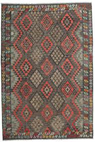 Kilim Afghan Old Style Rug 201X298 Authentic  Oriental Handwoven Dark Grey/Light Brown (Wool, Afghanistan)