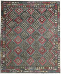 Kelim Afghan Old Style Tæppe 248X298 Ægte Orientalsk Håndvævet Mørkegrå (Uld, Afghanistan)