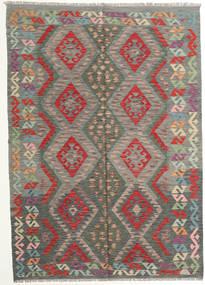 Kilim Afghan Old Style Alfombra 177X249 Oriental Tejida A Mano Gris Oscuro/Marrón Claro (Lana, Afganistán)