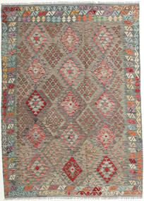 キリム アフガン オールド スタイル 絨毯 178X249 オリエンタル 手織り 薄茶色/薄い灰色 (ウール, アフガニスタン)