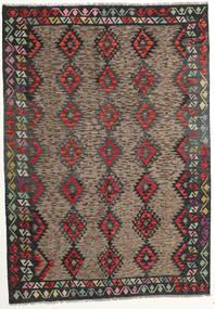 Kilim Afghan Old Style Rug 175X250 Authentic  Oriental Handwoven Dark Grey/Dark Red (Wool, Afghanistan)