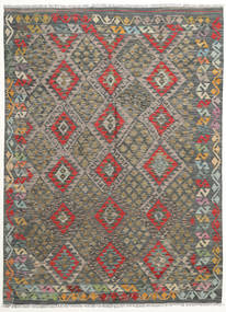 Kilim Afghan Old Style Alfombra 170X231 Oriental Tejida A Mano Gris Oscuro/Verde Oliva (Lana, Afganistán)