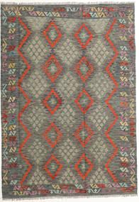 Kelim Afghan Old Style Vloerkleed 180X257 Echt Oosters Handgeweven Donkergrijs/Lichtbruin (Wol, Afghanistan)