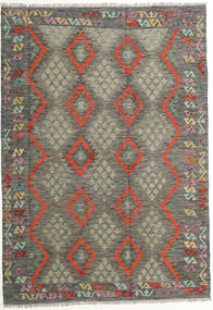 Kilim Afghan Old Style Alfombra 180X257 Oriental Tejida A Mano Gris Oscuro/Marrón Claro (Lana, Afganistán)