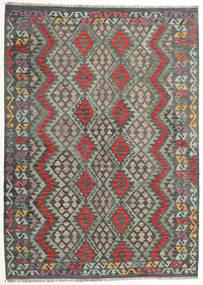 Kilim Afghan Old Style Alfombra 175X244 Oriental Tejida A Mano Gris Oscuro/Gris Claro (Lana, Afganistán)