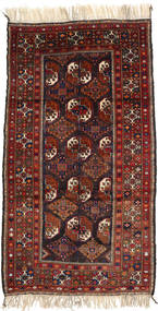 Afghan Khal Mohammadi Rug 119X214 Authentic  Oriental Handknotted Dark Red/Black (Wool, Afghanistan)