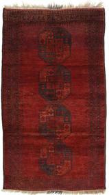 Afghan Khal Mohammadi Matto 120X208 Itämainen Käsinsolmittu Tummanpunainen (Villa, Afganistan)