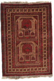 Afghan Khal Mohammadi Rug 78X108 Authentic  Oriental Handknotted Dark Red/Light Brown (Wool, Afghanistan)