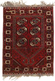 Afghan Khal Mohammadi Vloerkleed 79X105 Echt Oosters Handgeknoopt Donkerrood/Lichtbruin (Wol, Afghanistan)