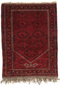Afghan Khal Mohammadi Matto 80X102 Itämainen Käsinsolmittu Tummanpunainen (Villa, Afganistan)