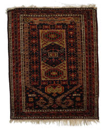 Afghan Khal Mohammadi Rug 82X101 Authentic  Oriental Handknotted Dark Brown/Dark Red (Wool, Afghanistan)