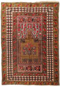 アフガン Khal Mohammadi 絨毯 140X201 オリエンタル 手織り 深紅色の/濃い茶色 (ウール, アフガニスタン)