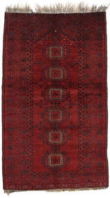 Afghan Khal Mohammadi Rug 117X197 Authentic  Oriental Handknotted Dark Red (Wool, Afghanistan)