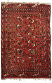 Afgan Khal Mohammadi Dywan 128X193 Orientalny Tkany Ręcznie Ciemnoczerwony/Ciemnobrązowy (Wełna, Afganistan)