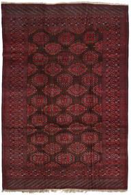 アフガン Khal Mohammadi 絨毯 207X300 オリエンタル 手織り 深紅色の/濃い茶色 (ウール, アフガニスタン)