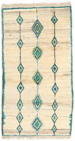 Barchi/Moroccan Berber - Afganistan Rug 105X195 Authentic  Modern Handknotted Beige/Yellow (Wool, Afghanistan)