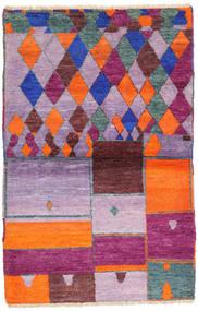 Barchi/Moroccan Berber - Afganistan Covor 102X157 Modern Lucrat Manual Violet Deschis/Roz Deschis (Lână, Afganistan)
