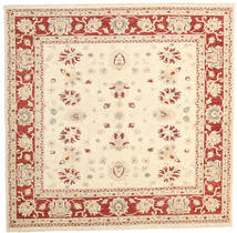 Ziegler Ariana Rug 198X200 Authentic  Oriental Handknotted Square Beige/Dark Red (Wool, Afghanistan)
