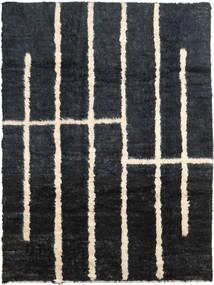 Barchi/Moroccan Berber - Afganistan Matto 205X273 Moderni Käsinsolmittu Musta/Tummanharmaa (Villa, Afganistan)