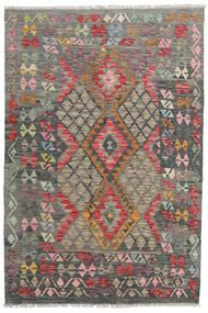 Kelim Afghan Old Style Matto 118X177 Itämainen Käsinkudottu Vaaleanruskea/Tummanharmaa (Villa, Afganistan)