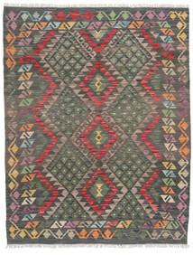 Kelim Afghan Old Style Matto 122X155 Itämainen Käsinkudottu Tummanharmaa/Vaaleanruskea (Villa, Afganistan)