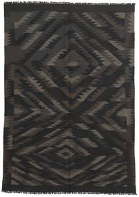 Kelim Afghan Old Style Tapijt 147X212 Echt Oosters Handgeweven Zwart/Donkergrijs (Wol, Afghanistan)