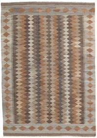 Kelim Afghan Old Style Matta 171X246 Äkta Orientalisk Handvävd Ljusbrun/Brun (Ull, Afghanistan)
