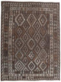 Kelim Afghan Old Style Teppe 186X244 Ekte Orientalsk Håndvevd Mørk Brun/Lys Grå (Ull, Afghanistan)