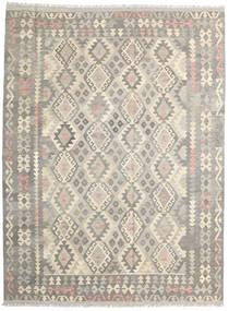 Kelim Afghan Old Style Matta 186X249 Äkta Orientalisk Handvävd Ljusgrå/Beige (Ull, Afghanistan)