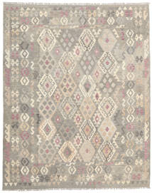 Kelim Afghan Old Style Teppe 201X250 Ekte Orientalsk Håndvevd Lys Grå/Lysbrun (Ull, Afghanistan)