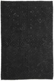 Kelim Afghan Old Style Tapijt 195X290 Echt Oosters Handgeweven Zwart (Wol, Afghanistan)