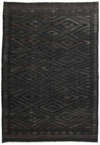Kilim Afghan Old Style Rug 201X290 Authentic  Oriental Handwoven Black/Dark Grey (Wool, Afghanistan)