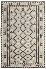 Kilim Afghan Old Style Rug 203X300 Authentic  Oriental Handwoven Light Grey/Dark Grey (Wool, Afghanistan)