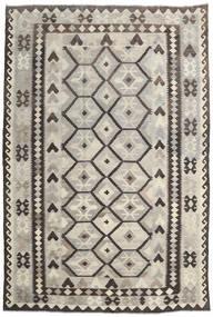 Kilim Afghan Old Style Rug 203X300 Authentic  Oriental Handwoven Light Grey/Dark Grey (Wool, Afghanistan)