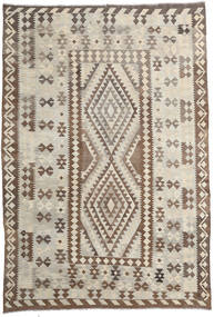 Kilim Afghan Old Style Rug 200X293 Authentic  Oriental Handwoven Light Grey/Brown (Wool, Afghanistan)