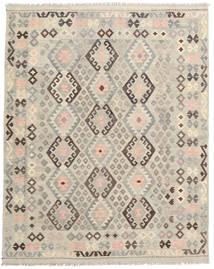 Kilim Afghan Old Style Tapis 191X243 D'orient Tissé À La Main Marron Clair/Gris Clair (Laine, Afghanistan)