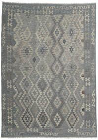 Kilim Afghan Old Style Rug 205X289 Authentic  Oriental Handwoven Dark Grey/Light Grey (Wool, Afghanistan)