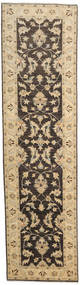 Ziegler Ariana Rug 80X291 Authentic  Oriental Handknotted Hallway Runner  Light Brown/Dark Grey/Dark Beige (Wool, Afghanistan)