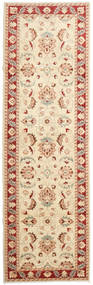 Ziegler Ariana Rug 96X315 Authentic  Oriental Handknotted Hallway Runner  Beige/Dark Red (Wool, Afghanistan)