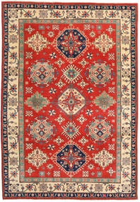 Kazak Rug 206X296 Authentic  Oriental Handknotted Rust Red/Dark Grey (Wool, Pakistan)