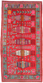Samarkand Vintage Teppich 173X332 Echter Orientalischer Handgeknüpfter Rot/Hellgrau (Wolle, China)